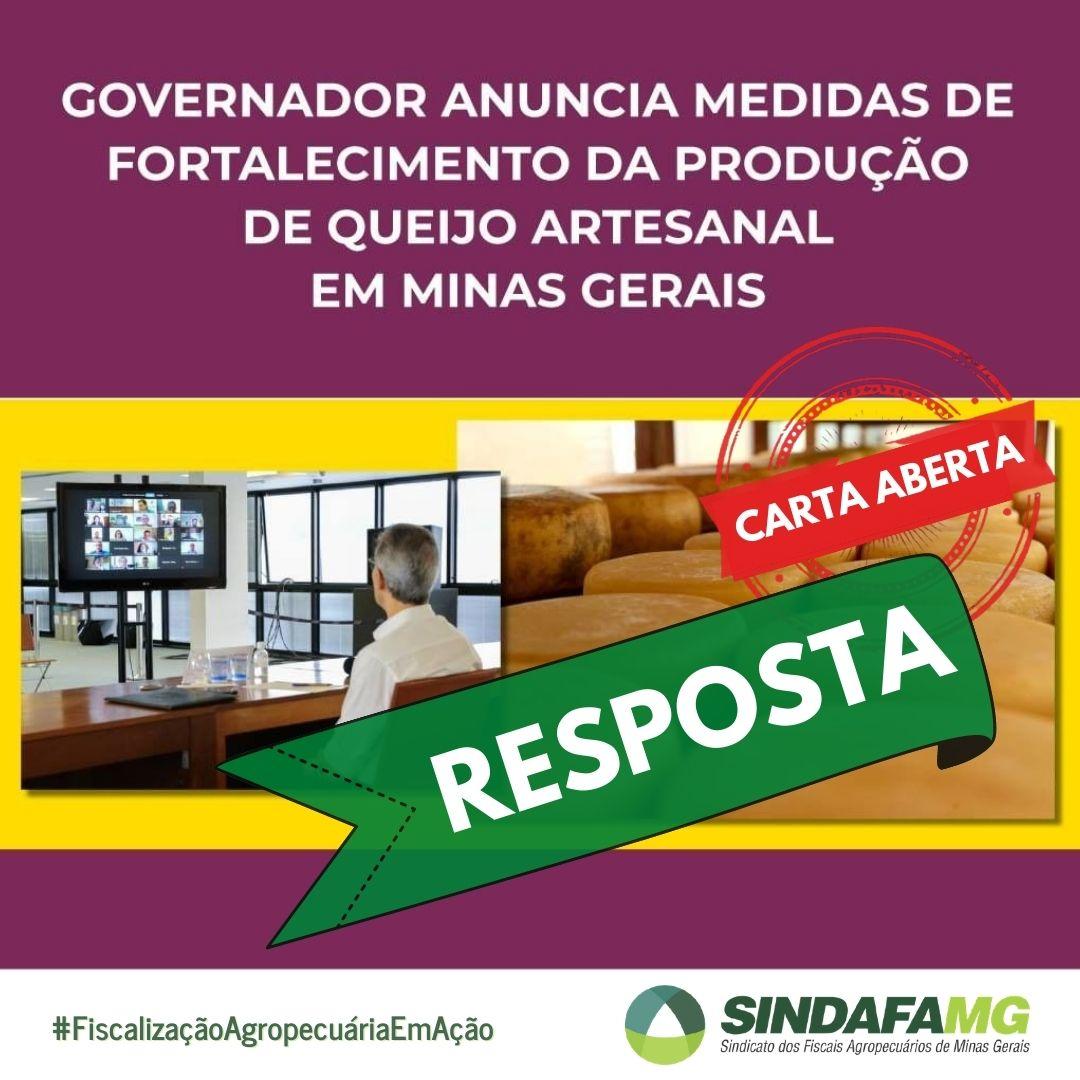 Secretaria de Agricultura responde Carta Aberta enviada ao Governador de Minas