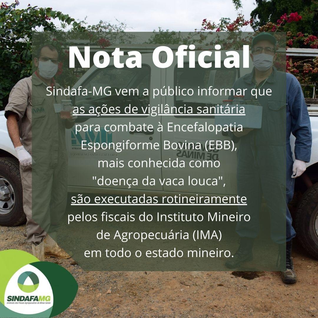 Órgãos da Agricultura investigam caso suspeito de doença da vaca louca em Minas Gerais