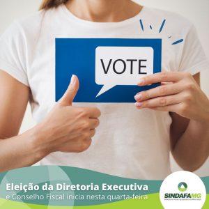Eleição da Diretoria Executiva e do Conselho Fiscal inicia nesta quarta